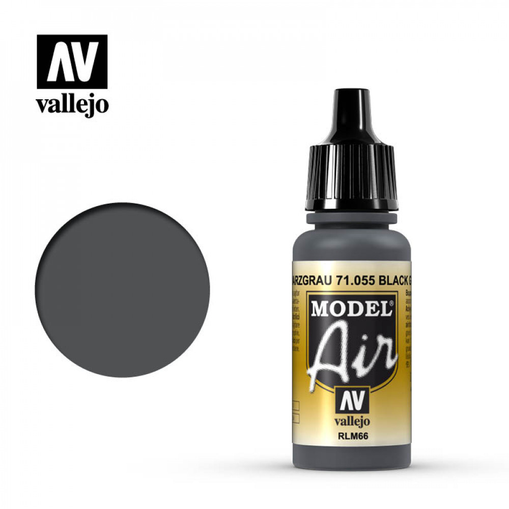 Black Grey RLM66 71.055 Vallejo Model Air  (17ml)