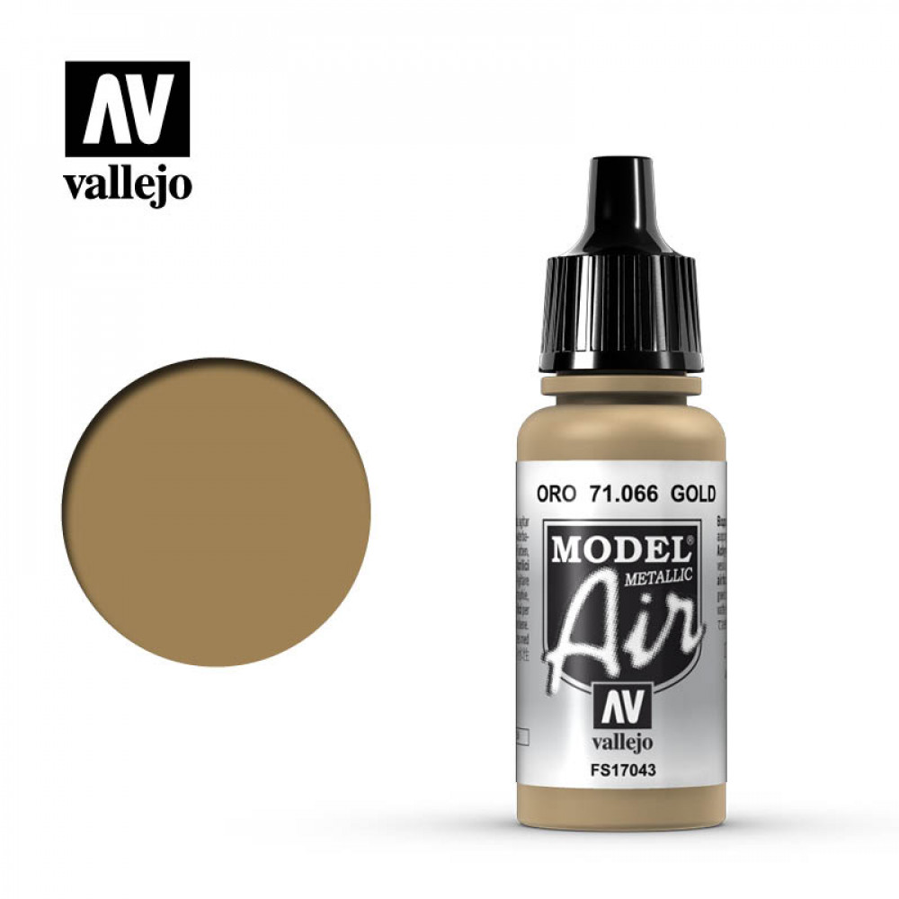 Gold (Metallic)  71.066 Vallejo Model Air  (17ml)