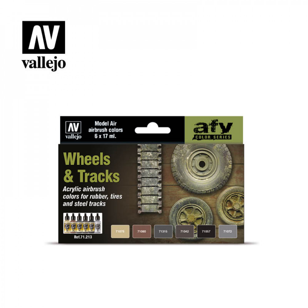 Wheels & Tracks - Color Set Vallejo 71213