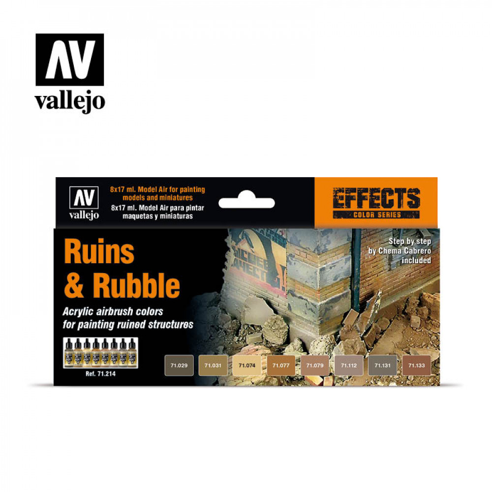 Ruins & Rubble - Color Set Vallejo 71214