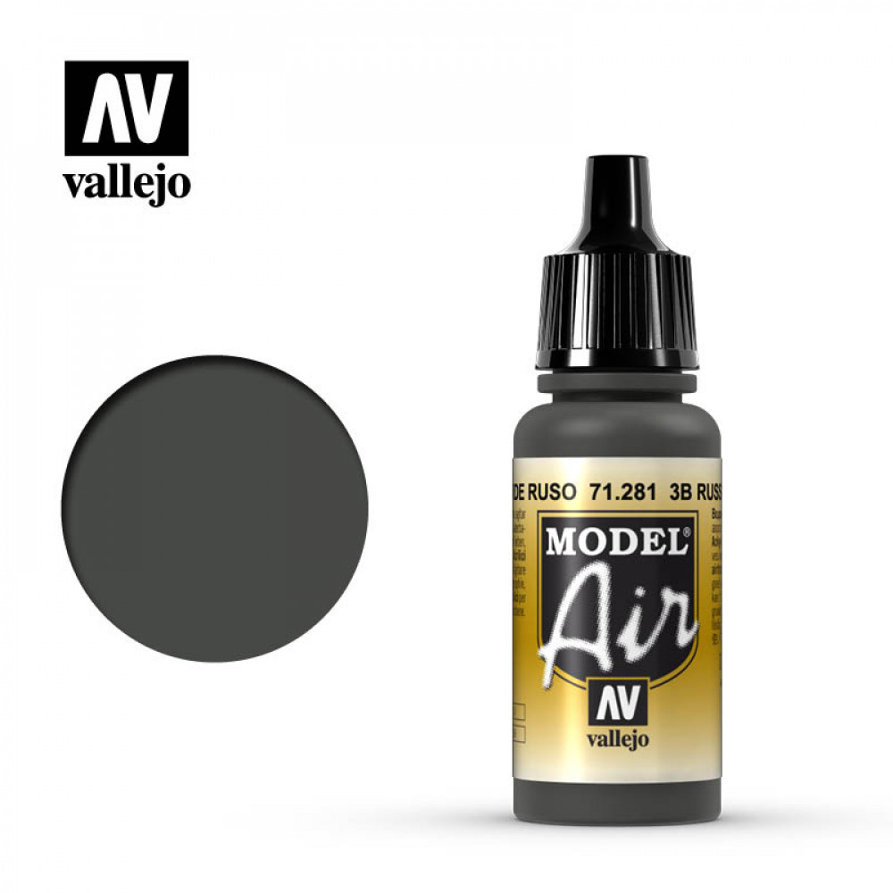 3B Russian Green  71.281 Vallejo Model Air  (17ml)