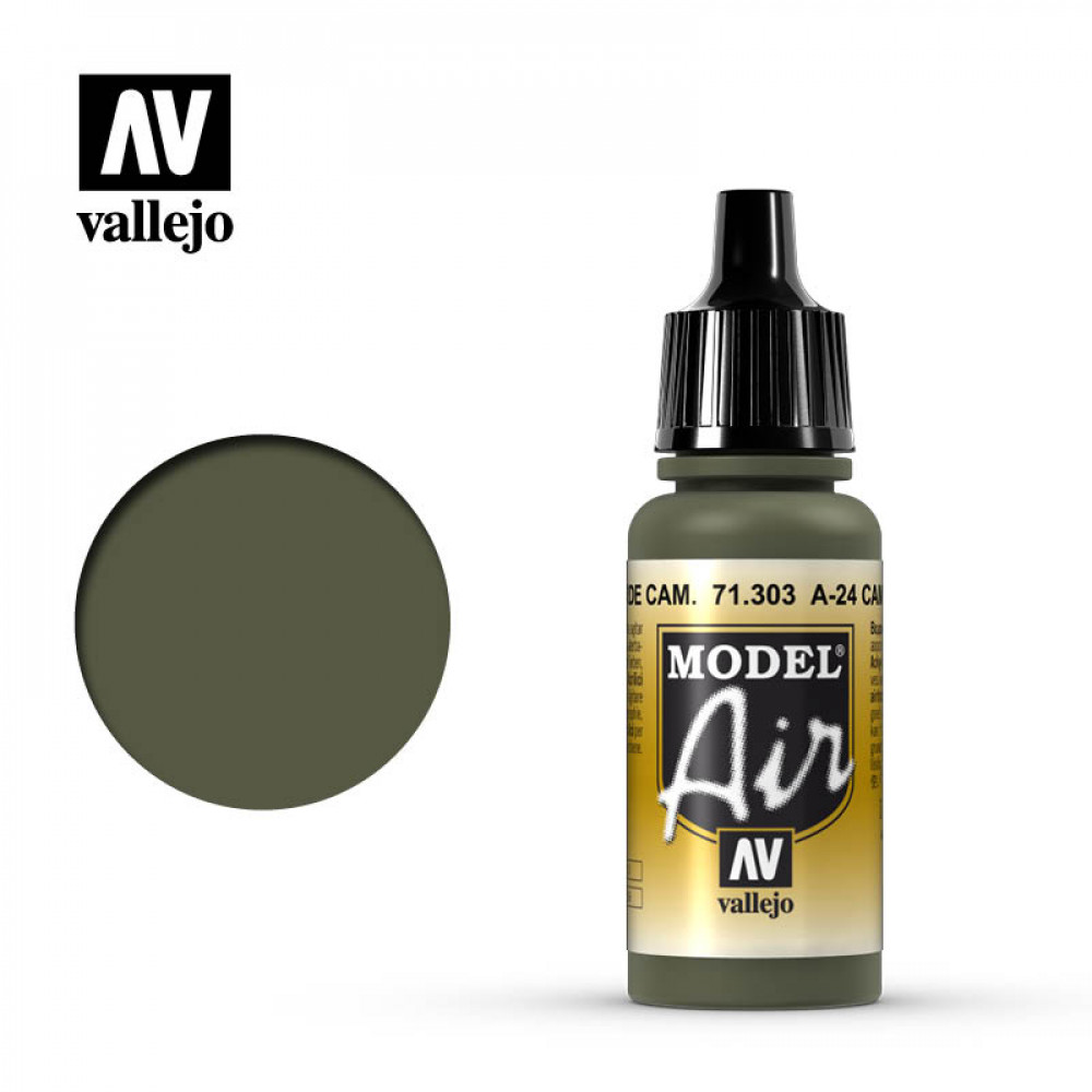 A-24M Camouflage Green 71.303 Vallejo Model Air  (17ml)