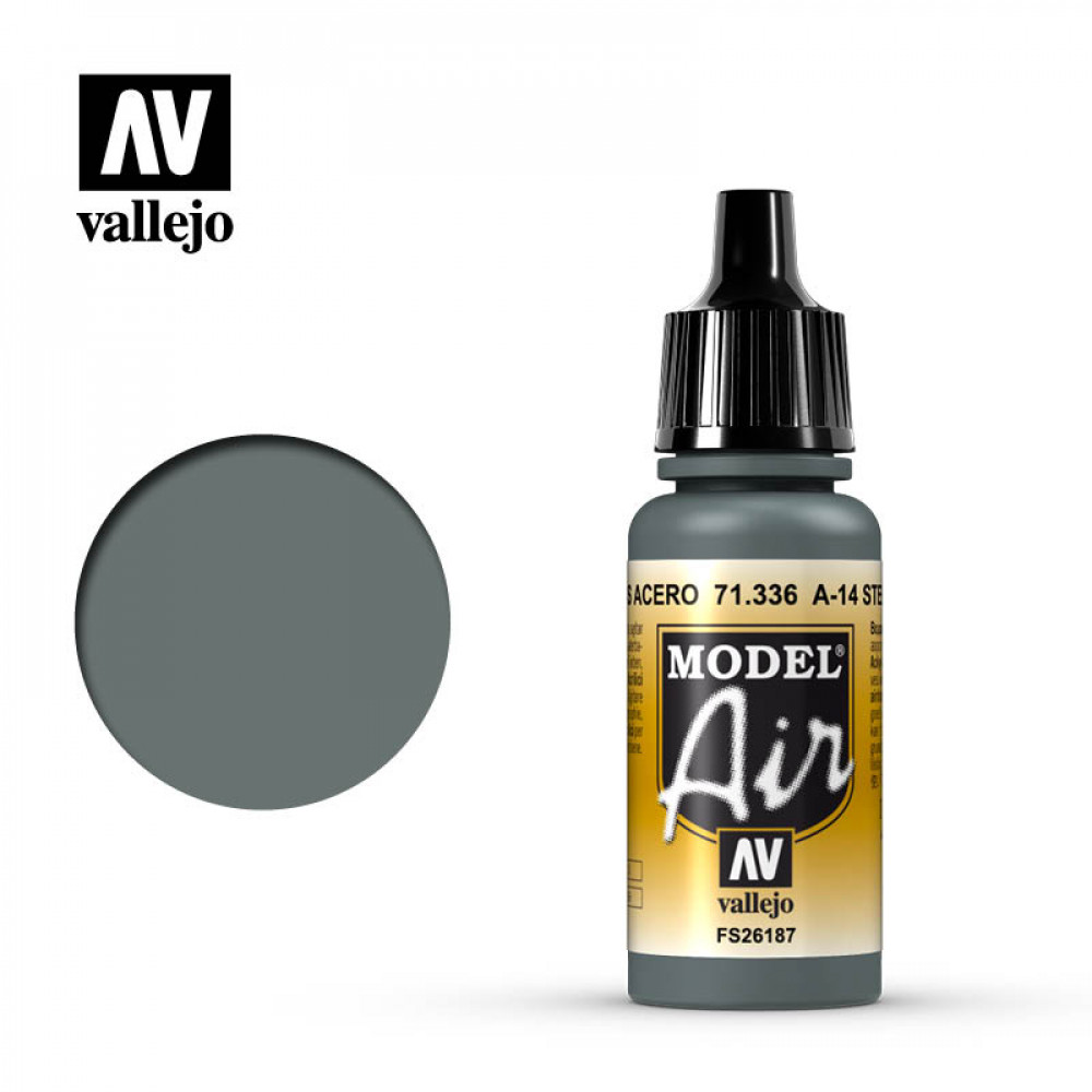 A-14 Steel Grey  71.336 Vallejo Model Air  (17ml)