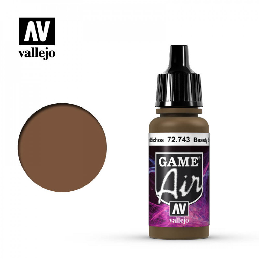Beasty Brown 72.743 Vallejo Game Air (17ml)