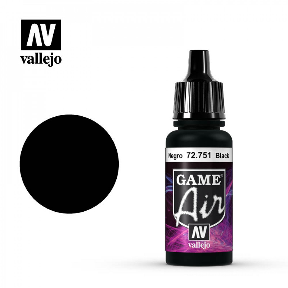 Black 72.751 Vallejo Game Air (17ml)