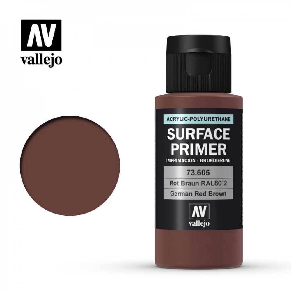 German Red Brown Surface Primer Acrylic-Polyurethane Vallejo 73605