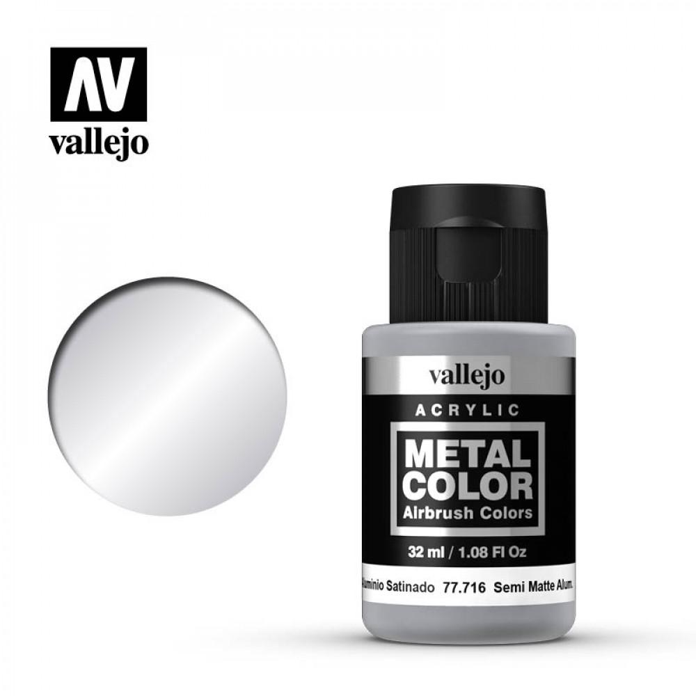 Semi Matt Aluminum 32 ml Vallejo 77716