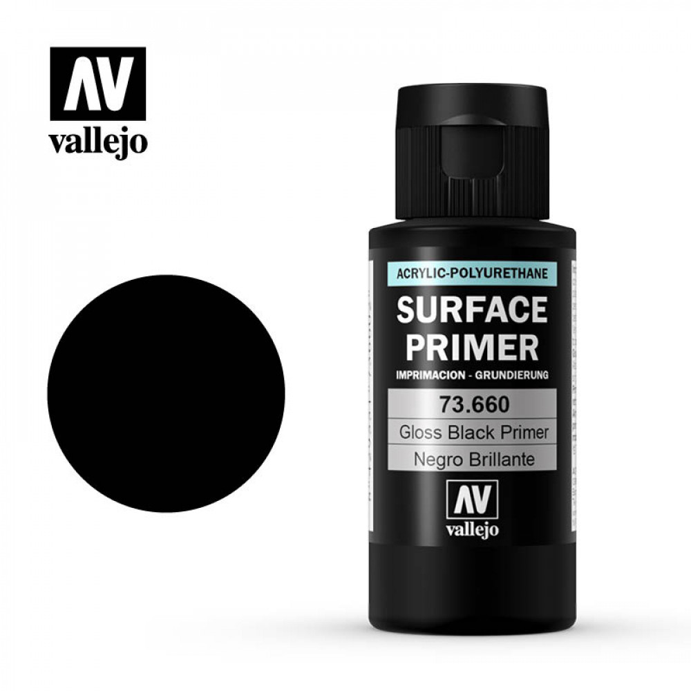 Gloss Black Primer 60 ml Vallejo 73660