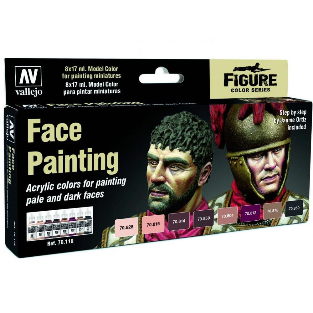 Face Painting Set - Color Set Vallejo 70119