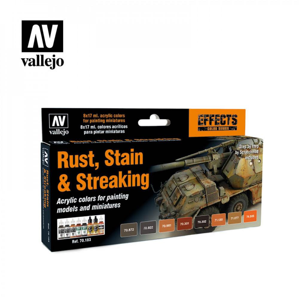 Rust, Stain & Streaking - Color Set Vallejo 70183