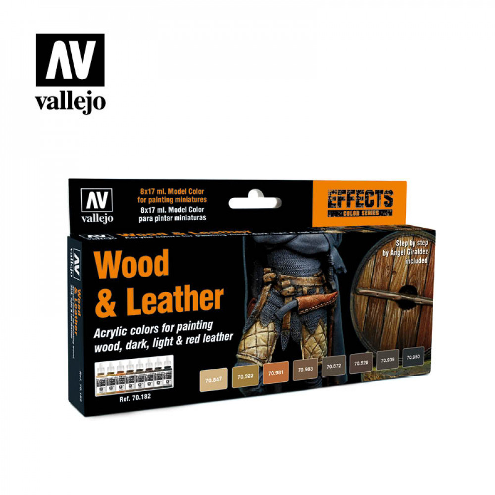 Wood & Leather - Color Set Vallejo 70182