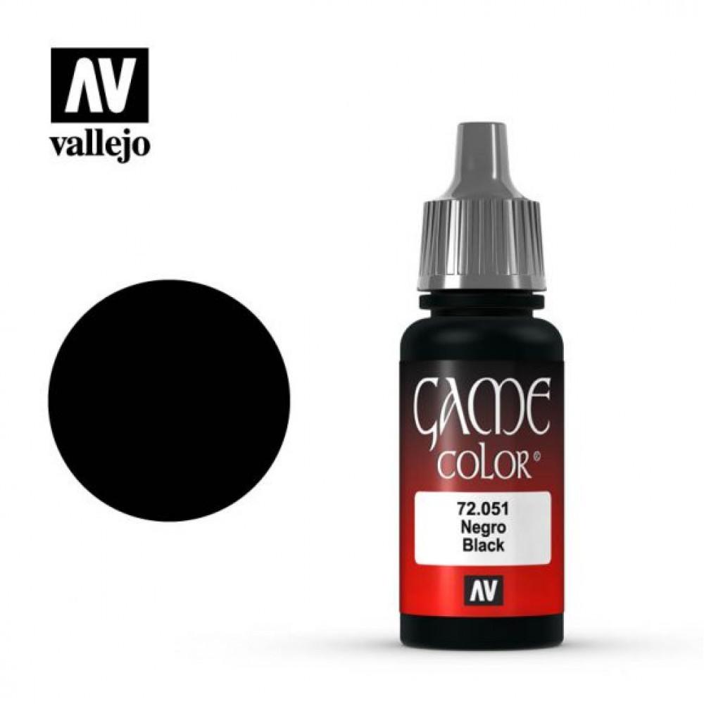 Black 72.051 Vallejo Game Color (17ml)