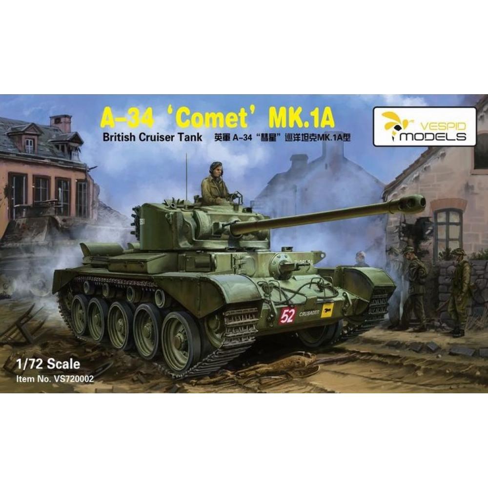 Британский танк A-34 Comet MK.1A 1/72 Vespid Models 720002