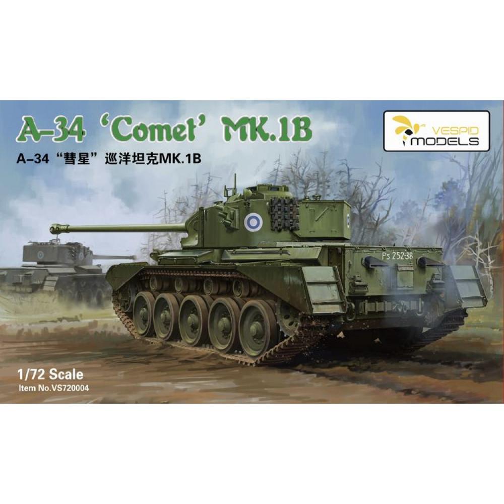 Британский танк A-34 Comet MK.1B 1/72 Vespid Models 720004