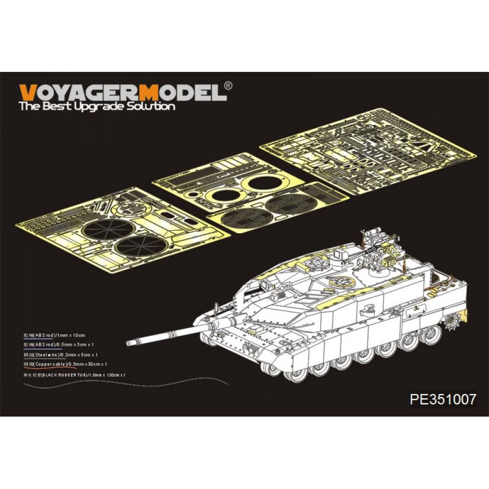 Modern German Leopard 2A7 +Basic(For MENG TS 35-042) 1/35 VoyagerModel PE351007