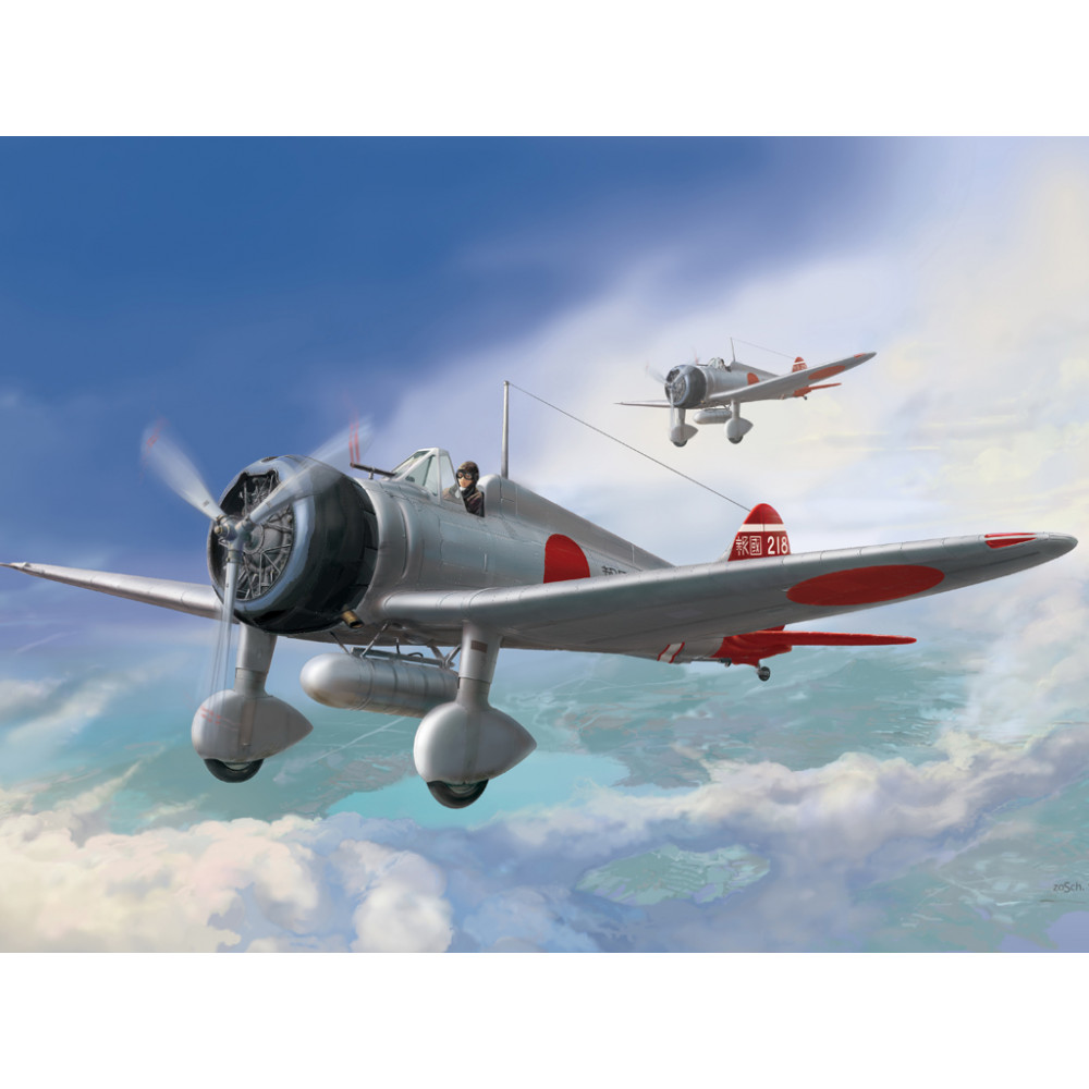 """IJN Type 96 carrier-based fighter II A5M2b """"Claude"""" (late) 1/48 Wingsy Kits D5-01"""