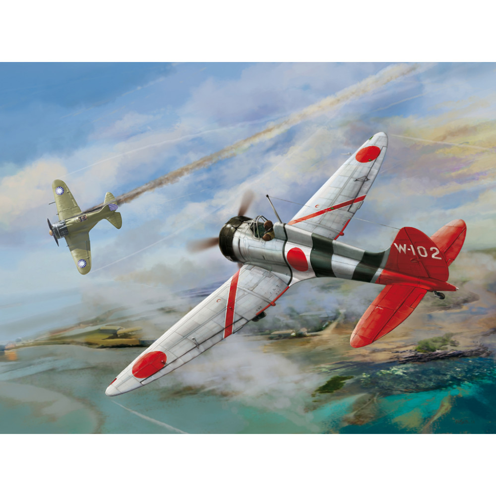 """IJN Type 96 carrier-based fighter IV A5M4 """"Claude"""" 1/48 Wingsy Kits D5-02"""